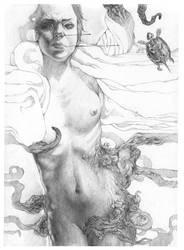 woman. sketch by akvarko