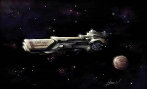 ship speedpainting by ChevronLowery