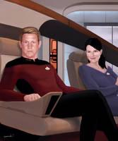 Charlie and Kristie Star Trek TNG commission by ChevronLowery