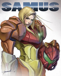Samus - Super Metroid by ChevronLowery