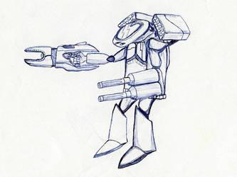 Mecha + Big Gun by tin-can-man