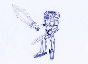 Mecha + Big Sword by tin-can-man