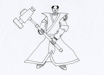 Chaplain Xavier by tin-can-man