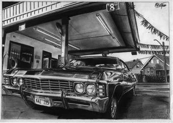 Chevrolet Impala 67' Supernatural drawing by alainmi