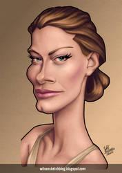Alyssa Sutherland (Caricature) by wilson-santos