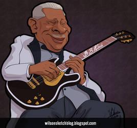 B.B. King (Cartoon Caricature) by wilson-santos
