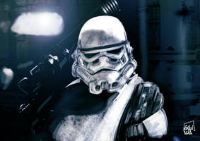 Stormtrooper Of Death by l3raindead