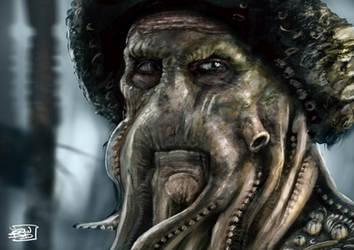 Davy Jones by l3raindead