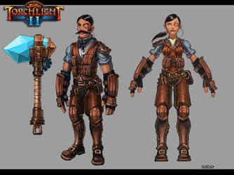 Torchlight 2 - Engineer Class Concept by Scuro