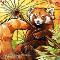 Red Panda Parasol by Nambroth