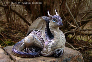 Labradorite Lap Dragon by Nambroth