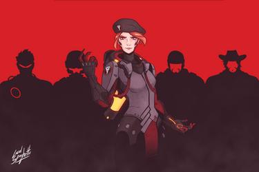 [Overwatch] Blackwatch Moira by LocalSpaghetto