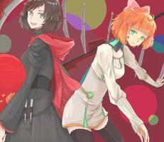 Ruby and Penny by MiiChiu