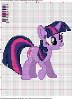 Twilight Sparkle Cross Stitch Pattern by AgentLiri