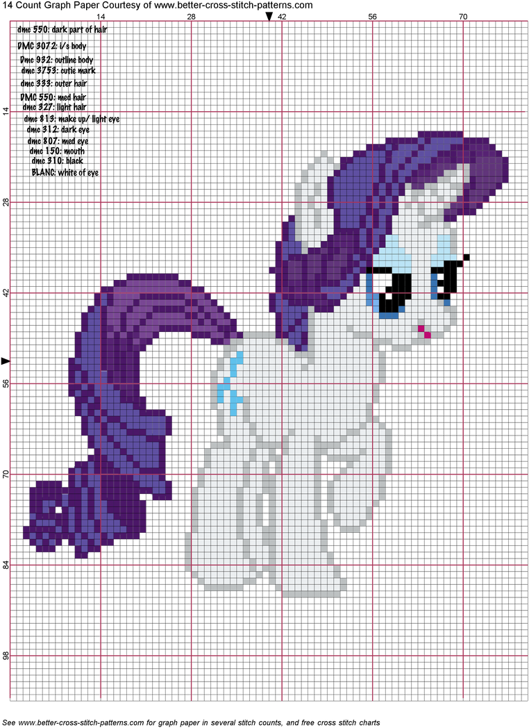 Rarity Cross Stitch Pattern by AgentLiri