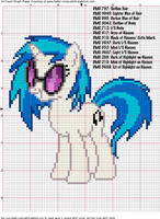 DJ PON3/ Vinyl Scratch Cross Stitch Pattern by AgentLiri