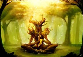 treefolk Shaman by thiago-almeida