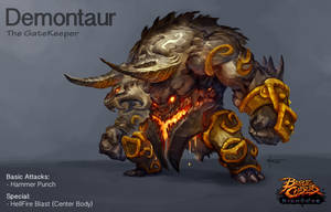 Demontaur- Battle Chasers creature contest by thiago-almeida