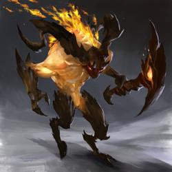 Scout - fire elementals by thiago-almeida