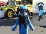 RIOLU cosplay costume by shadowhatesomochao