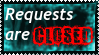 Stamp: Requests are CLOSED! by shadowhatesomochao