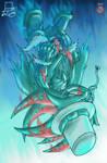 falling - Kaito Shadow Demon form by shadowhatesomochao