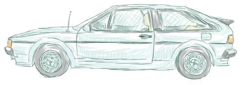 VW Scirocco 2 Tropic sketch by shadowhatesomochao