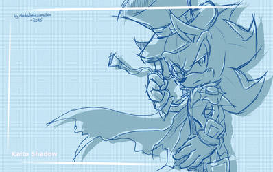 Kaito Shadow Wallpaper (+Speedpainting) by shadowhatesomochao