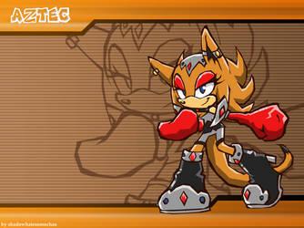 CM: Aztec Sonic Battle Wallpaper by shadowhatesomochao