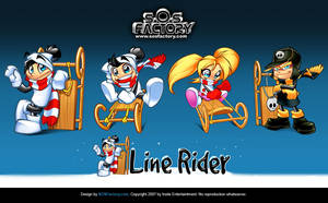 LINERIDER character design by SOSFactory