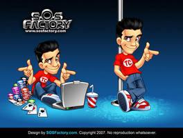 Mascot design for Tyler Cruz by SOSFactory
