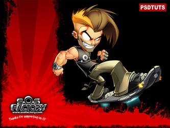 PSDTutsTUTORIAL:Mascot design by SOSFactory