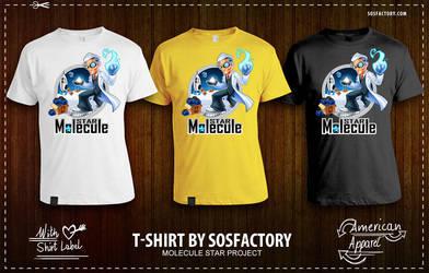 Tshirt: Star Molecule by SOSFactory