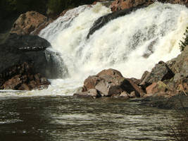 giant waterfall stock by kirastocks