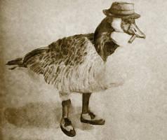 Mafia Goose by lemur-llama