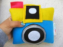 CMYK plush camera by manriquez