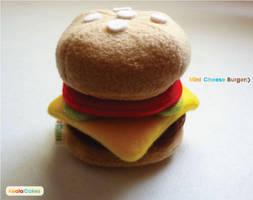 Mini Cheese burger plush by manriquez