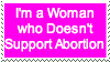Pro-Life feminist stamp version 2 by Xarti