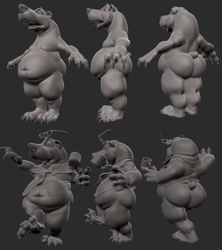 Mr Bear at work by Kruku