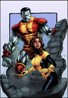 colossus and kitty by logicfun