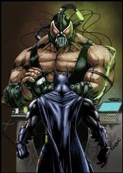 Batman vs Bane by logicfun