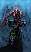 Spider-Man rain by logicfun