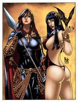 Magdalena and Vampirella by logicfun