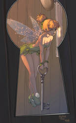 Fanart Tinker Bell color by logicfun