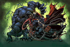 Venom Vs Spawn Color by logicfun