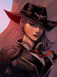 Ashe   Overwatch Color by logicfun