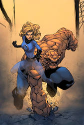 Sue Storm And Thing Color by logicfun