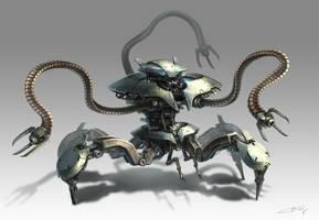 Alien Crawler Bot Concept by ichitakaseto