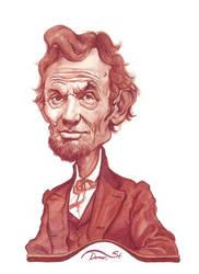 Abraham Lincoln watercolor sketch by StDamos
