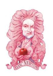 Isaac Newton watercolor illustration by StDamos